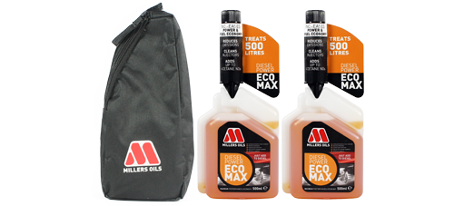 Buy 2 x 500ml Millers Oils ECOMAX and Get a FREE Pouch