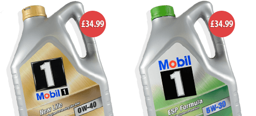 Mobil 1 ESP 5w-30 & New Life 0w-40 - 5 Litres for only £34.99